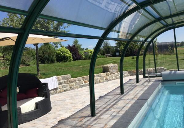 Poolüberdachung GALAXY Musterhalle 1000 x 550 cm