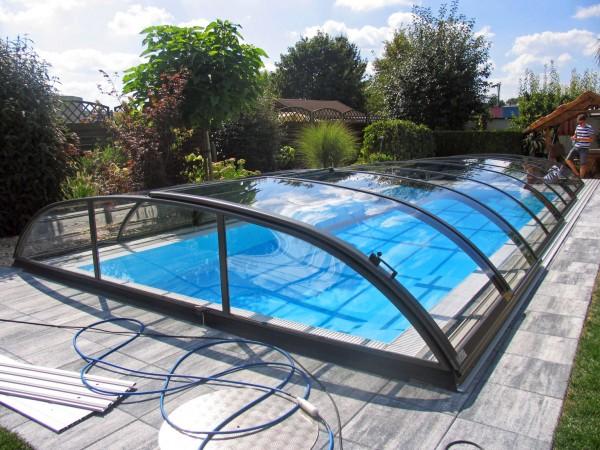 NAUTILUS-Pool SOLARIS 550 x 300 x 150 cm mit Schiebeüberdachung