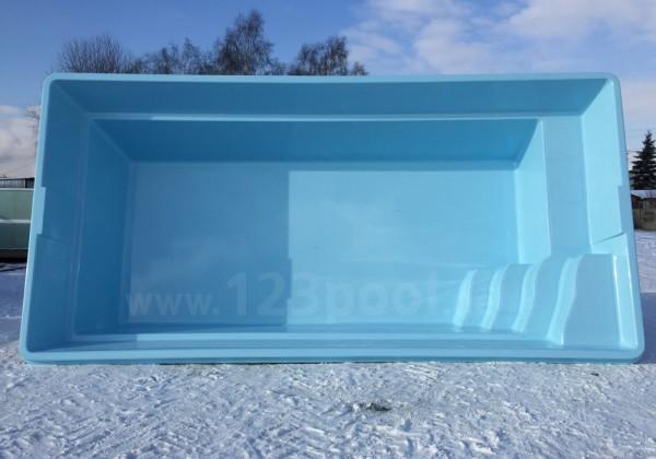 GFK-Pool-Set MELODY in drei Größen 410 - 600 cm mit Technikpaket