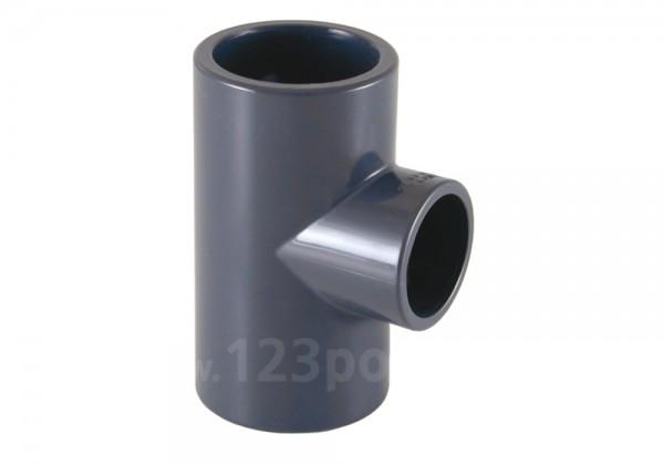 PVC-T-Stück 90° 2 x Klebeanschluss/Innengewinde reduziert