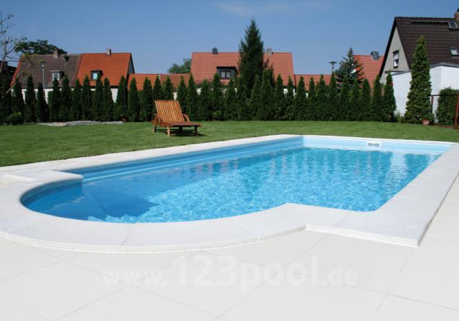Aquitaine beckenrandsteine wei beckenrandsteine pool for Garten pool holzoptik