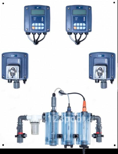 MIDA CONTROL Pro Mess-/Regel- und Dosieranlage freies Chlor/pH