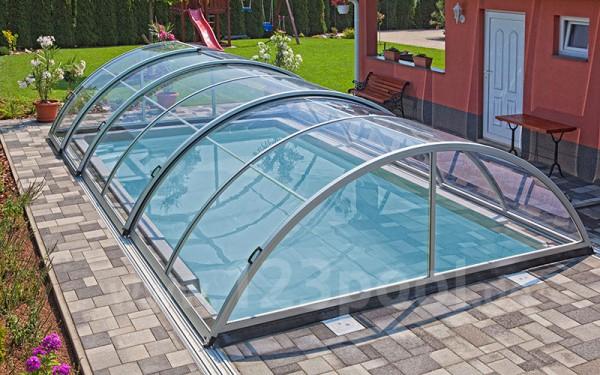Schiebeüberdachung ZENITH standard clear 350 x 600 x 115 cm