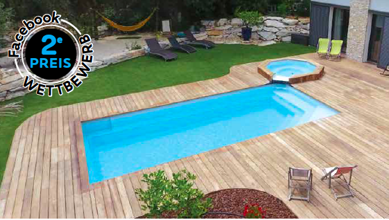 GFK-Pool CÉLESTINE 4 mit Technik-Paket 406 x 406 x 142 cm