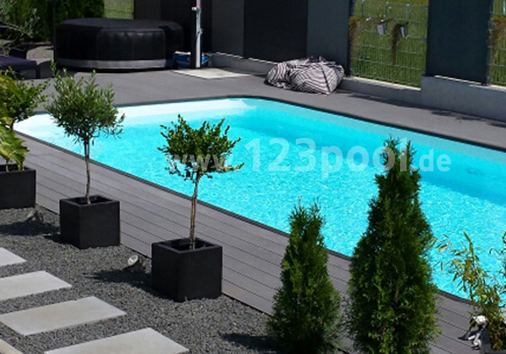 pp becken mit skimmer pp pools 123pool the home of pools. Black Bedroom Furniture Sets. Home Design Ideas