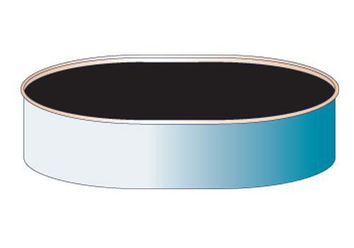 Solar-Plane schwarz für Ovalpools