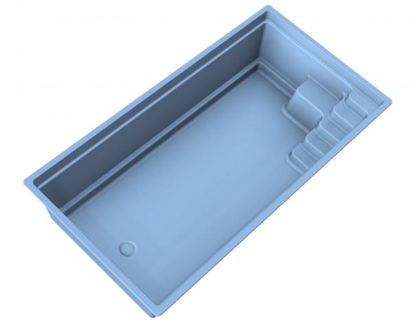 NIVOPOOL Jade 670 x 350 x 151 cm mit Pooltechnik-Paket