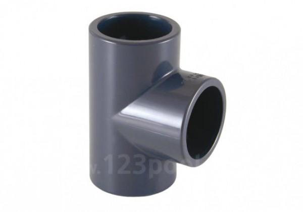 PVC-T-Stück 90° Klebeanschluss