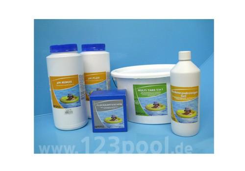 Wasserpflege Saisonpaket mit Chlor Muti-Tabs 5 in 1