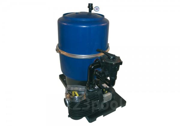 Sandfilteranlage FP 400/500/600 mit zweiteiligem Filterkessel