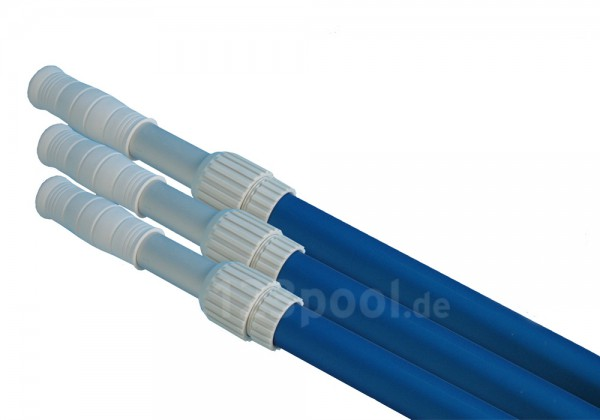 Teleskopstangen Alu blau