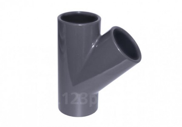 PVC-T-Stück 45° Klebeanschluss