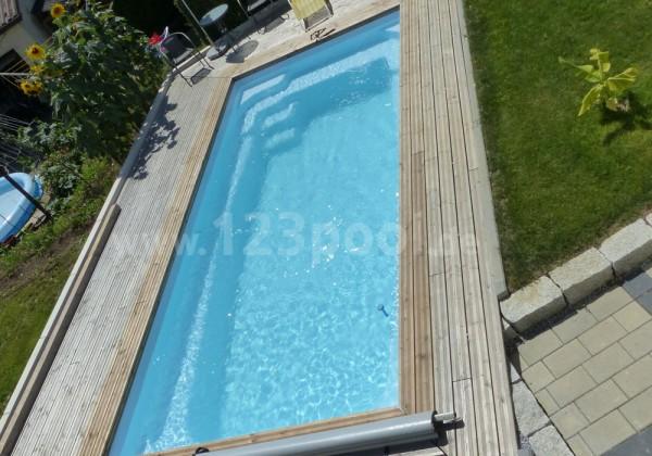 GFK-Pool MAXI mit Wärmepumpe und Abdeckung 650 x 300 x 140 cm
