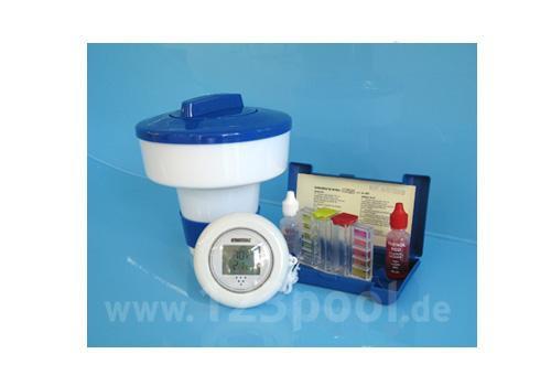 Wasserpflege-Set mit Dosierschwimmer, Thermometer und Wassertester