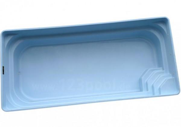 GFK-Pool NOVA CONFORT mit Unterflur-Rollladen und Technik-Set 890 x 368 x 158 cm