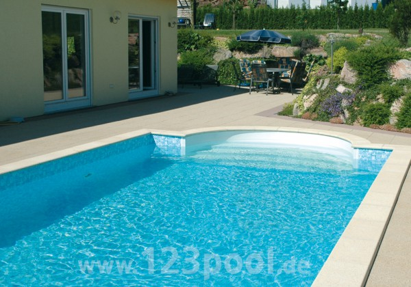 Power S-Stone-Pool im Set mit Technikpaket