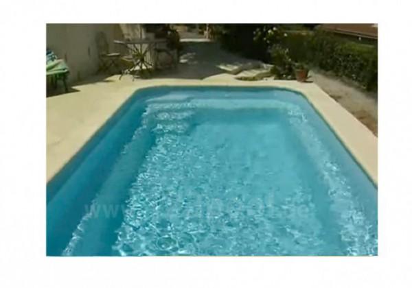 GFK-Pool BABY mit Rollladen und Technik-Paket 550 x 230 x 138 cm