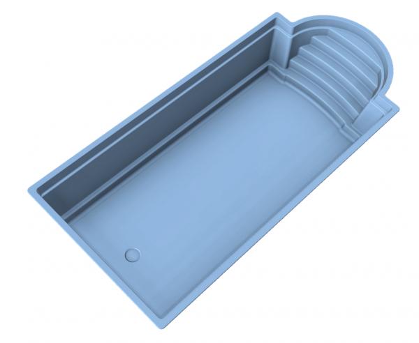 NIVOPOOL Neptun 850 x 380 x 153 cm mit Pooltechnik-Paket