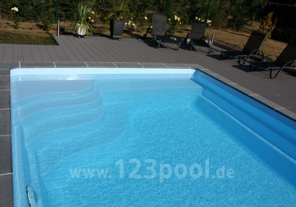 GFK-Pool UNIQUE 6 mit Technik-Paket 610 x 330 x 150 cm