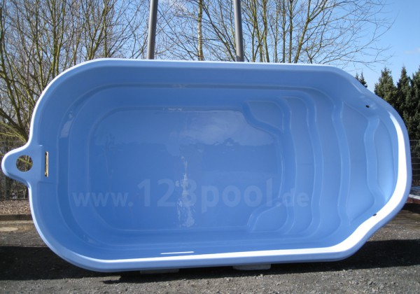 GFK-Pool-Set LAGO 500 x 270 x 130 cm mit Technikpaket