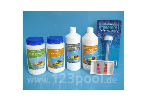Wasserpflege Startpaket mit Chlor und pH-Minus