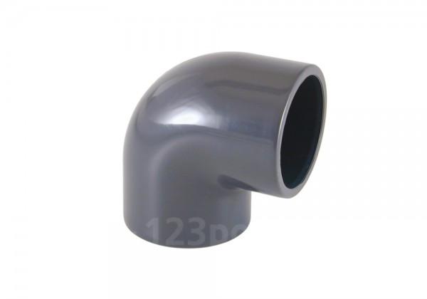 "PVC-Winkel 90° Klebeanschluss 50 / Innengewinde 1 1/2"""