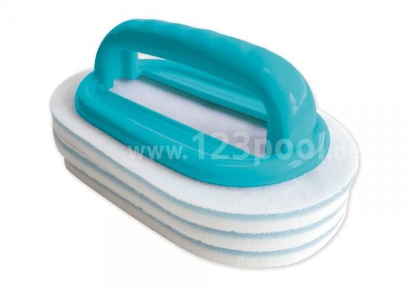 BAYROL Handbürste mit austauschbaren Pads