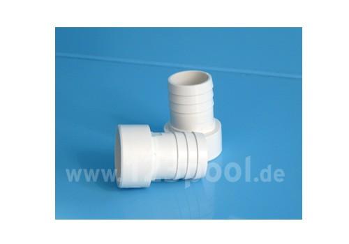 PVC-Druckschlauchtülle weiß - Klebeanschluss