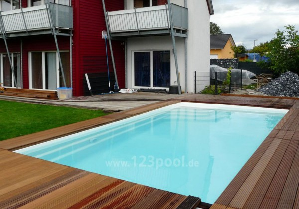 GFK-Pool UNIQUE 8 mit Technik-Paket 800 x 380 x 150 cm