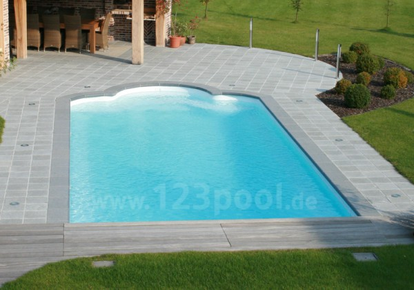 gfk pool romaine mit technik paket 920 x 370 x 160 cm gfk pools ga piscines gfk pools. Black Bedroom Furniture Sets. Home Design Ideas