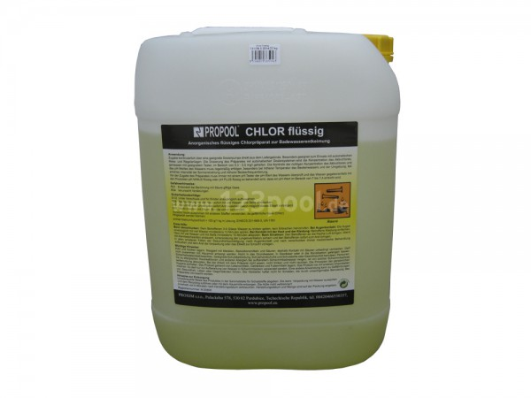 Chlor flüssig Kanister á 22 kg