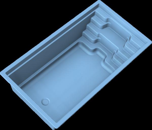 NIVOPOOL CORAL 550 x 300 x 153 cm mit Pooltechnik-Paket