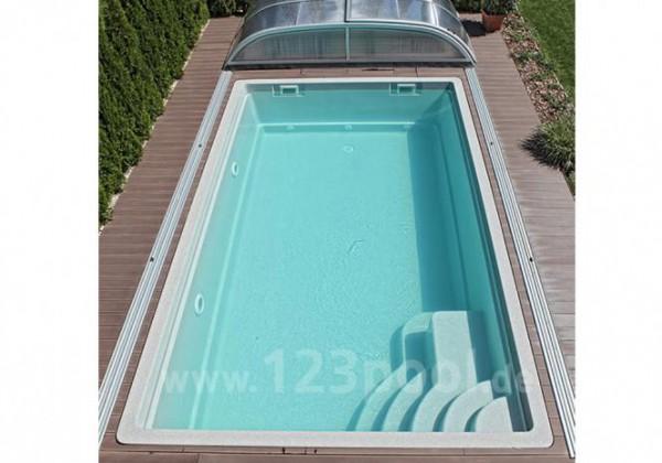 NAUTILUS-Pool ATLANTIS 650 x 380 x 150 cm mit Pooltechnik-Paket