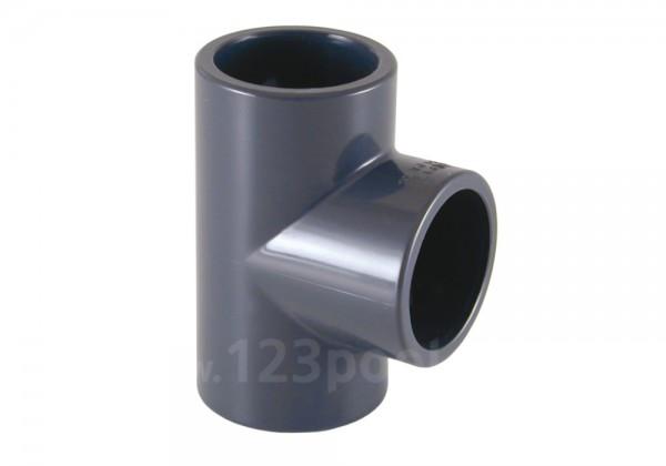 PVC-T-Stück 90° Klebeanschluss/Innengewinde