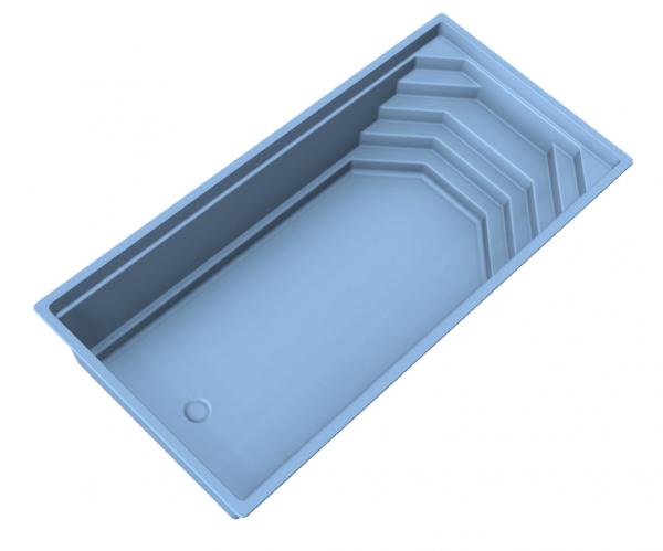 NIVOPOOL Shell 720 x 350 x 153 cm mit Pooltechnik-Paket
